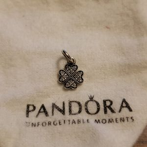 Pandora heart charm as shamrock